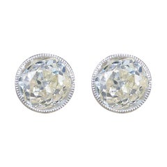 Diamond Collar Set Stud Earrings 1.84 Carat Total in 18 Carat Gold and Platinum