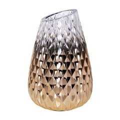 Diamond Collection Gold Big Crooked Vase