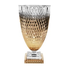 Diamond Collection Large Gold Crystal Vase