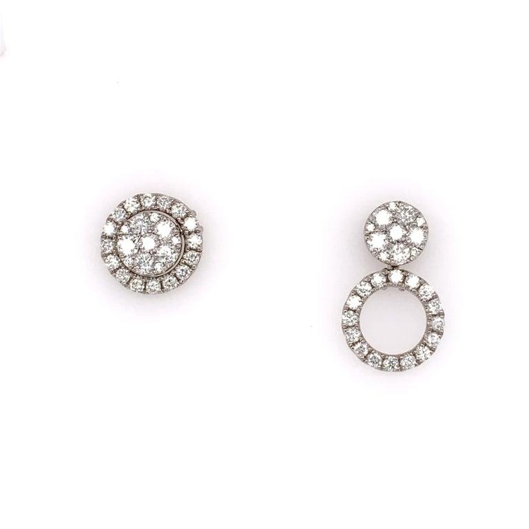 Diamond Convertible Stud/Dangle Earrings In New Condition In Miami, FL