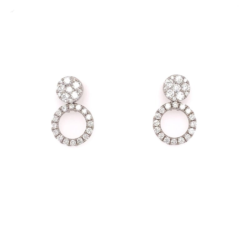 Women's Diamond Convertible Stud/Dangle Earrings