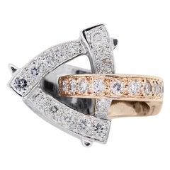 Diamond Crossover Cocktail Ring