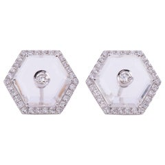 Diamond Crystal Octagonal Eartops