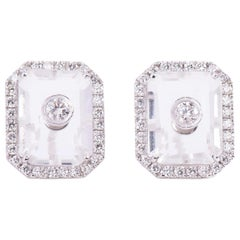 Diamond Crystal Rectangle Eartops