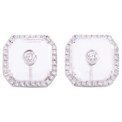 Diamond Crystal Square Eartops