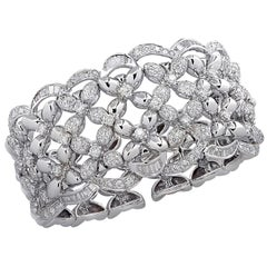 Diamond Cuff Bangle Bracelet