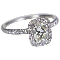 Diamond Cushion Cut 1.17 Carat Engagement Ring Platinum with GIA Certificate