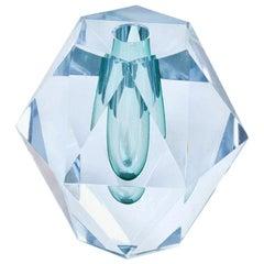 Diamond Cut Glass Vase by Strömbergshyttan, Sweden