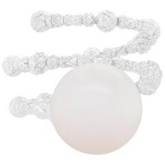 Diamond Cut Pearl Flexible Ring