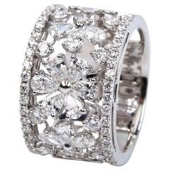 Diamond Daisy Band Ring
