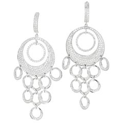 Diamond Dangle Chandelier Earrings