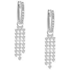 Diamond Dangle Earrings 18 Karat
