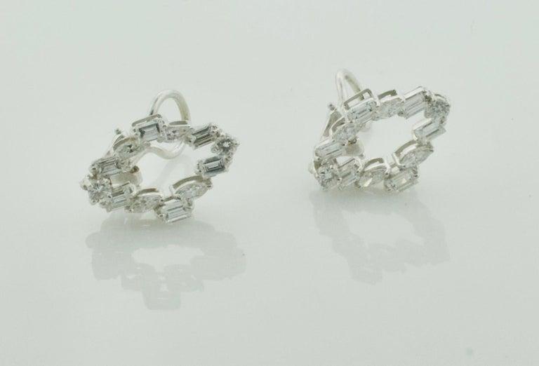 Diamond Dangling Convertible Earrings in 18 Karat 6.10 Carat In Excellent Condition For Sale In Wailea, HI