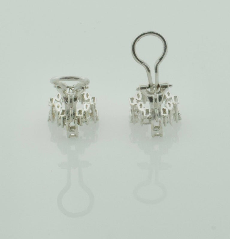 Diamond Dangling Convertible Earrings in 18 Karat 6.10 Carat For Sale 1