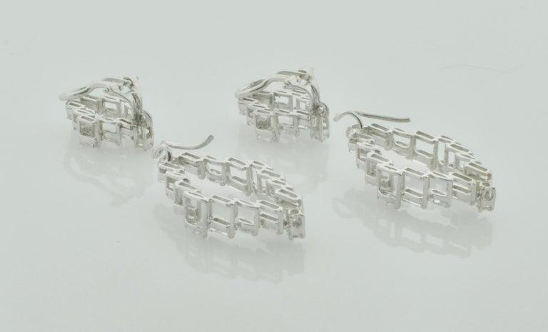 Diamond Dangling Convertible Earrings in 18 Karat 6.10 Carat For Sale 2