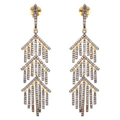Diamond Chain Drop Earrings