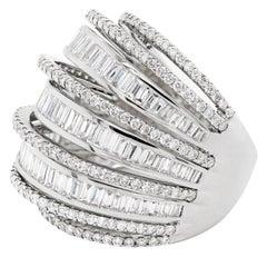 Diamond Dome 18 Carat White Gold Cocktail Ring