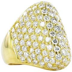 Diamond Dome Gold Ring