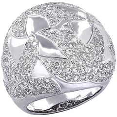 Diamond Dove Domed Cocktail Ring