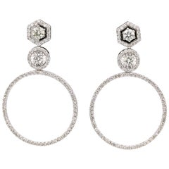 Diamond Drop Earrings 2.52 Carat