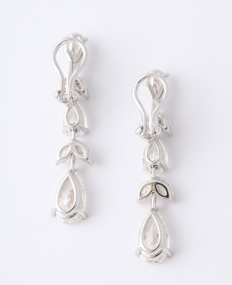 Diamond Drop Earrings For Sale 2