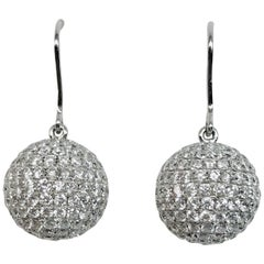 Diamond Drop Earrings White Gold