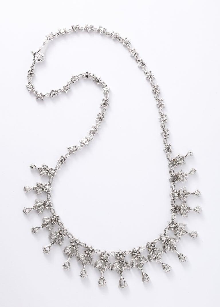 Diamond Drop Necklace For Sale 7