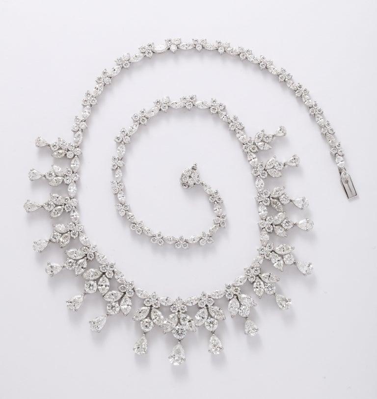 Diamond Drop Necklace For Sale 8