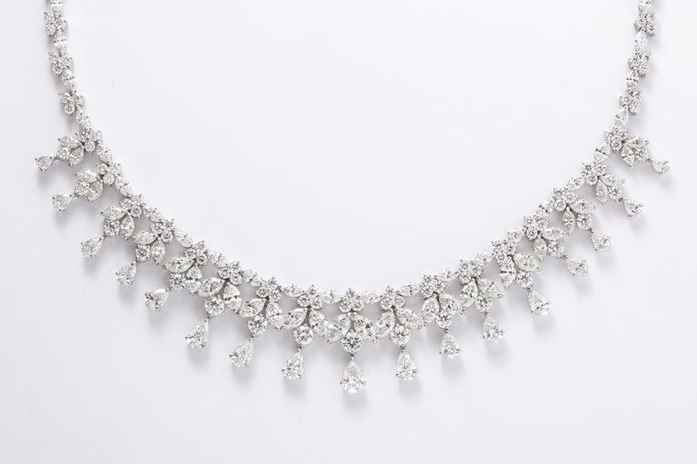 Women's or Men's Diamond Drop Necklace For Sale