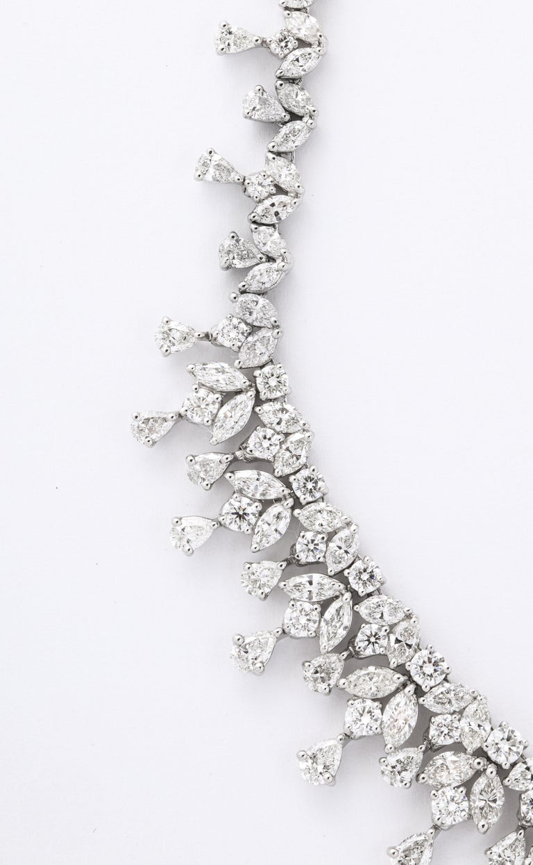 Diamond Drop Necklace In New Condition For Sale In New York, NY