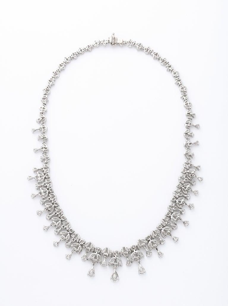 Women's Diamond Drop Necklace For Sale