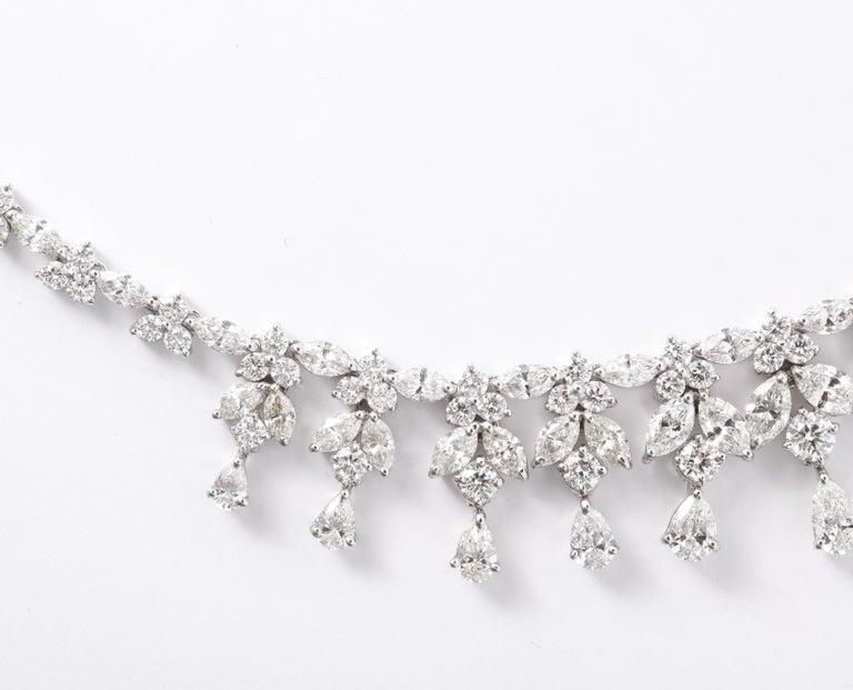 Diamond Drop Necklace For Sale 4