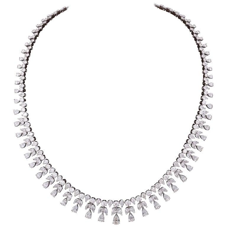Diamond Drop Necklace For Sale