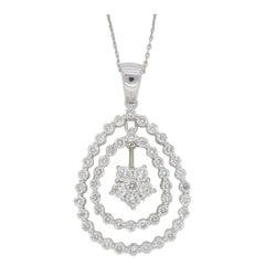 Diamond Drop Pendant Necklace