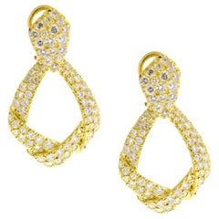 Diamond Drop Ribbon Earrings