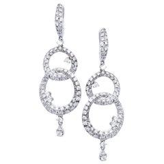 Diamond Drop White Gold Earrings by Casato