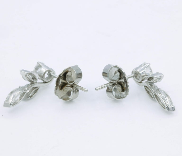 Diamond Earring Climbers, 1.70 Carat In New Condition For Sale In New York, NY
