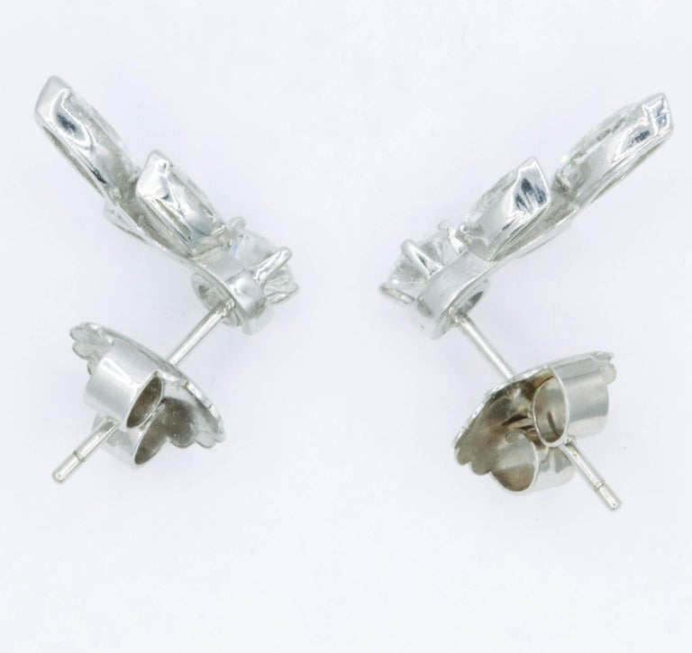Diamond Earring Climbers, 1.70 Carat For Sale 1