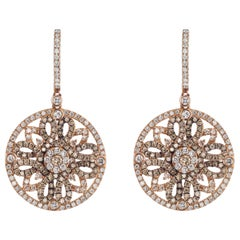 Diamond Earring in 18 Karat Rose Gold
