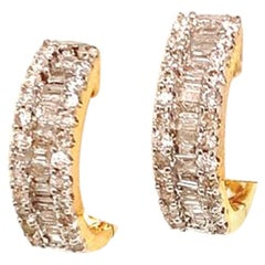 Diamond Earrings 14 Karat Gold Certified