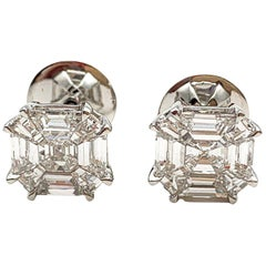Diamond Earrings 2.20 Carat 18 Karat Gold E/VS