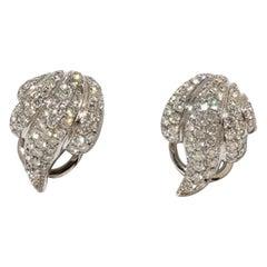 Diamond Earrings, 750 White Gold
