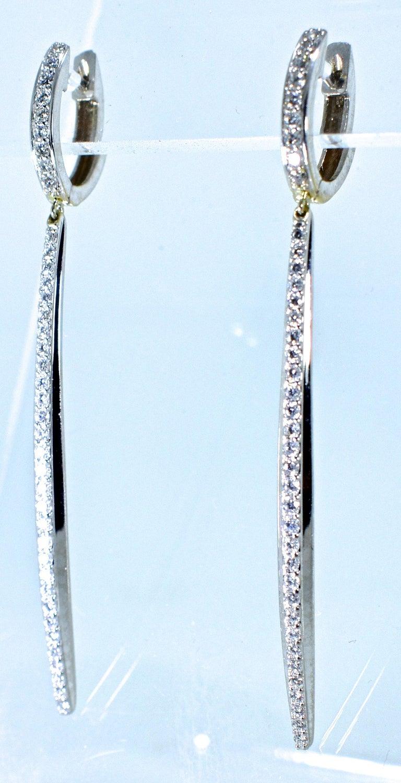 Modern Diamond Earrings, by Bunda. For Sale