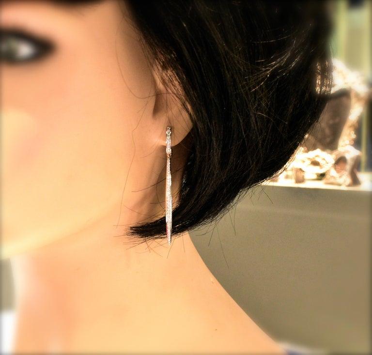 Women's or Men's Diamond Earrings, by Bunda. For Sale
