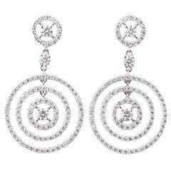 Diamond Earrings in 18 Karat White Gold