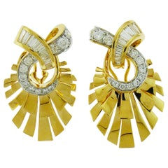 Diamond Earrings in 18 Karat Yellow Gold