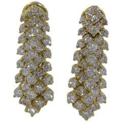 Diamond Earrings Set in 14 Karat Gold 61-10181