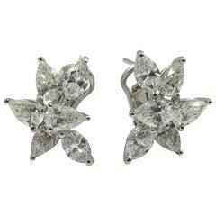 Diamond Earrings Set in 18 Karat White Gold 10015