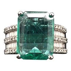 Diamond Emerald Fine 5.40 Carat Ring Certified