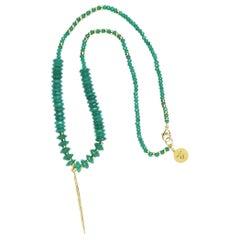 Diamond Emerald Green Love Necklace